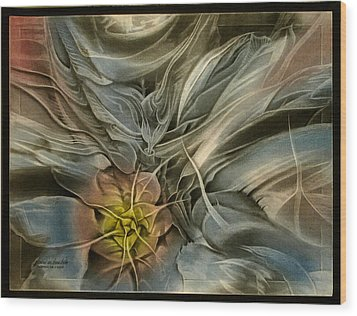 Wood Print featuring the pastel Cactuscomp 2010 by Glenn Bautista