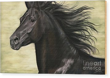 Wood Print featuring the painting Cadence by Sheri Gordon