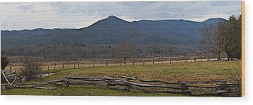 Cade's Cove - Smoky Mountain National Park Wood Print by Christopher Gaston