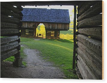 Wood Print featuring the photograph Cade's Cove Cantilever by Doug McPherson