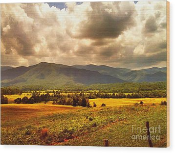 Wood Print featuring the photograph Cades Cove by Janice Spivey
