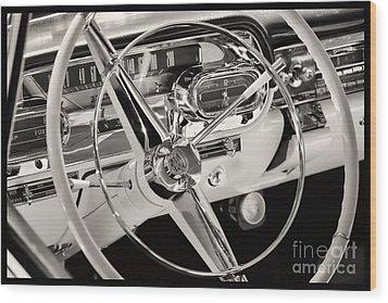 Cadillac Control Panel Wood Print by Miso Jovicic