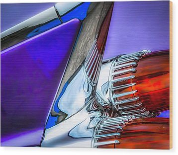 Cadillac Wood Print by Pattie  Stokes