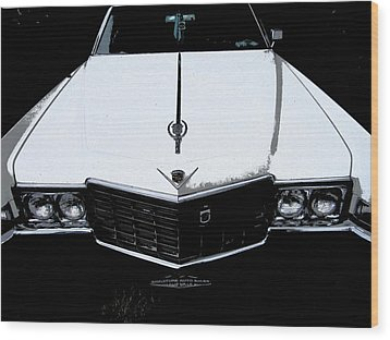 Cadillac Pimp Mobile Wood Print by Kym Backland