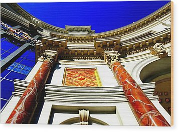 Caesars Palace Architecture Wood Print