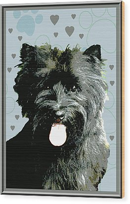 Cairn Terrier Wood Print by One Rude Dawg Orcutt