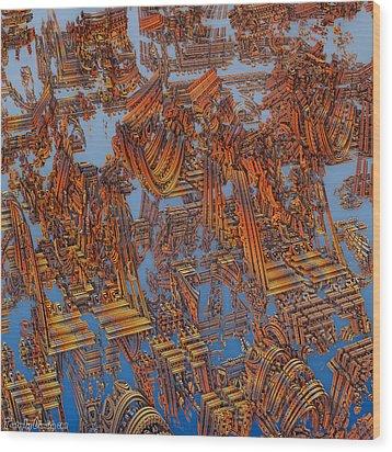 Calcutta Temple Goes To Heaven. Wood Print by Tautvydas Davainis