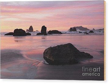 California Coast 3 Wood Print by Bob Christopher