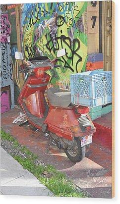 California Crayons Wood Print by Todd Sherlock