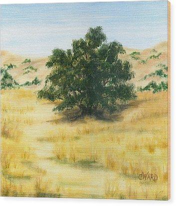 California Oak Wood Print by Colleen Ward