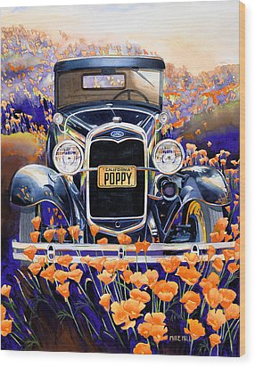 California Poppy Wood Print by Mike Hill