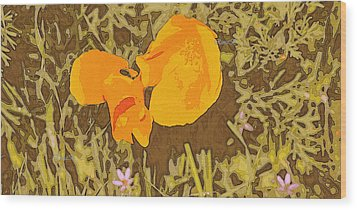Wood Print featuring the photograph California Poppy by Rima Biswas