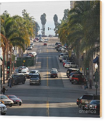 California Street Wood Print by Henrik Lehnerer
