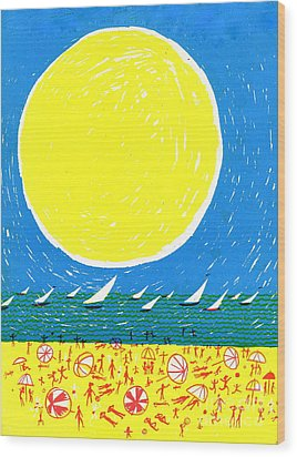 California Sun Wood Print by Donovan OMalley