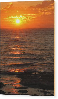 California Sunset Wood Print by Coby Cooper