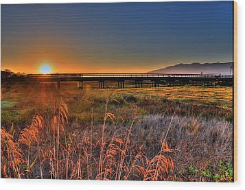 Wood Print featuring the photograph California Sunset by Marta Cavazos-Hernandez