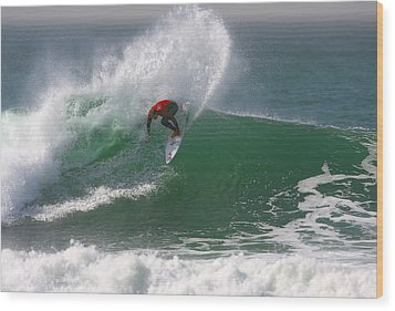 California Surfing 3 Wood Print by Larry Marshall