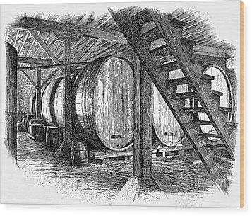 California: Winery, C1890 Wood Print by Granger