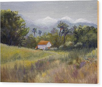 California Winter Wood Print