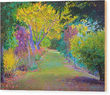 Calistoga Fall Wood Print