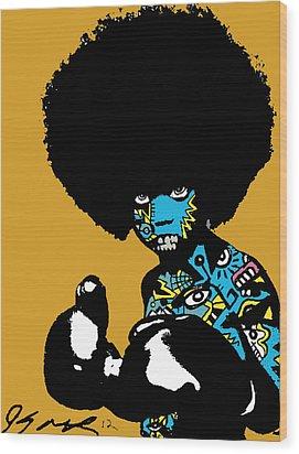 Call Of The Child Full Color Wood Print by Kamoni Khem