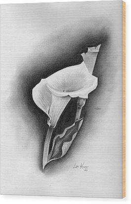 Calla Lily Wood Print by Lou Knapp