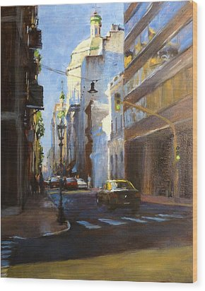 Calle Defensa Wood Print