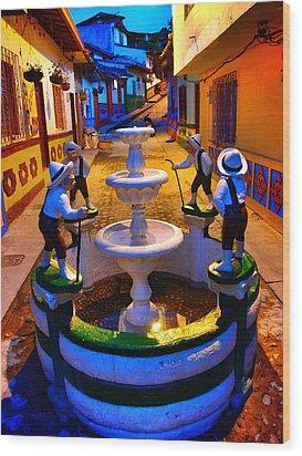 Calle Del Recuerdo Wood Print by Skip Hunt