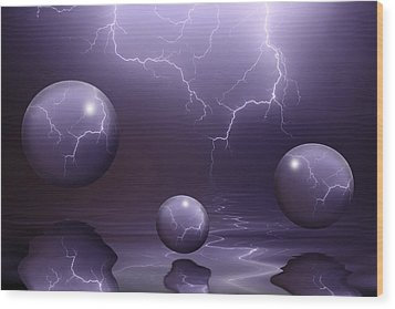 Calm Before The Storm Wood Print by Shane Bechler