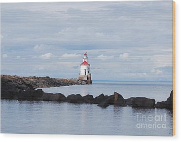 Calm Light Wood Print by Whispering Feather Gallery