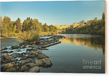 Calm Payette Wood Print by Robert Bales