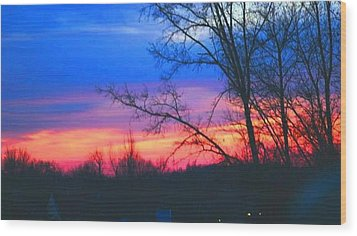 Calming Skies II A Wood Print