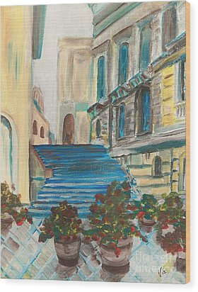 Caltanissetta  Wood Print by Judy Via-Wolff