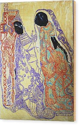 Calvary Wood Print by Gloria Ssali