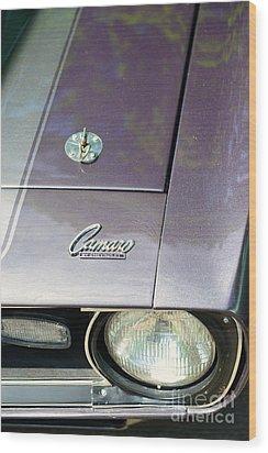 Camaro Ss With Hood Pin Wood Print by Paul Ward