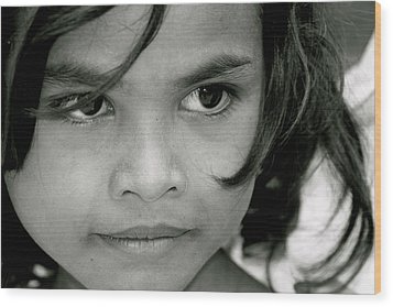 Cambodian Eyes Wood Print