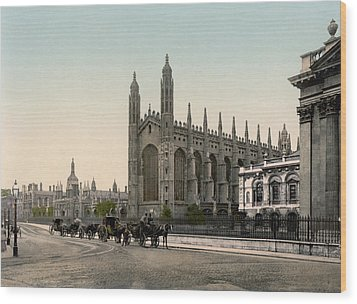 Cambridge - England - Kings College Wood Print by International  Images