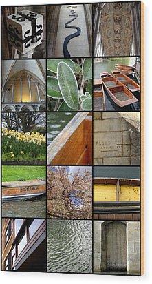 Cambridge As I Remember It Wood Print by Roberto Alamino