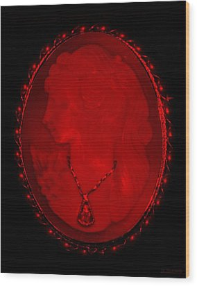 Cameo In Red Wood Print by Rob Hans