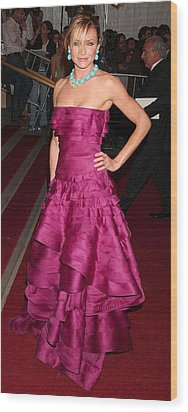 Cameron Diaz Wearing A Dior Gown Wood Print by Everett