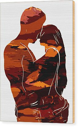 Camouflage Lovers Wood Print by Steve K