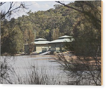 Wood Print featuring the photograph Camp On The Lake. by Carole Hinding