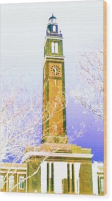 Campanile At Louisiana State University Wood Print