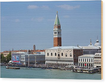 Campanile San Marco Wood Print by Terence Davis