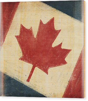 Canada Flag Wood Print by Setsiri Silapasuwanchai