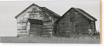 Wood Print featuring the photograph Canadian Barns by Jerry Fornarotto