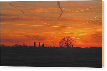 Canadian Countryside Sunset 1588 Wood Print