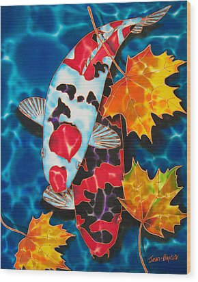 Canadian Koi Wood Print by Daniel Jean-Baptiste