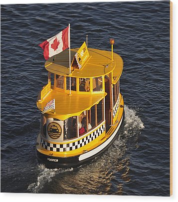 Wood Print featuring the photograph Canadian Water Taxi by MaryJane Armstrong