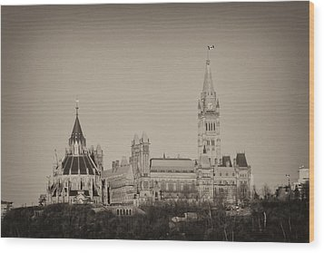 Wood Print featuring the photograph Canadiana by Josef Pittner